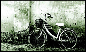Bike leaning on Wall - Wall Art- Framed Picture
