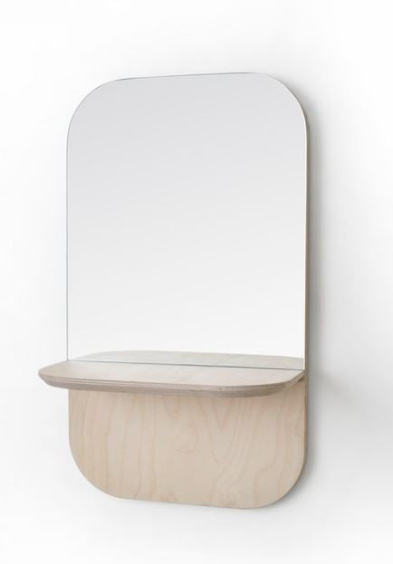 Birch Vertical Shelf Mirror