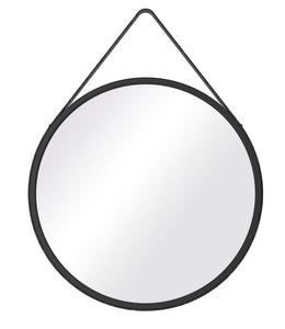 Black Thick frame Mirror with Strap