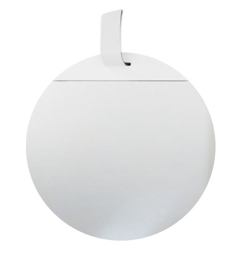 Modern White Mirror with Strap