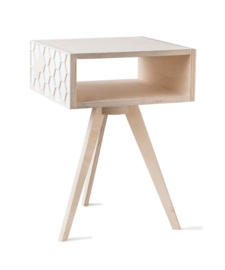 Hexa Bedside Table - White