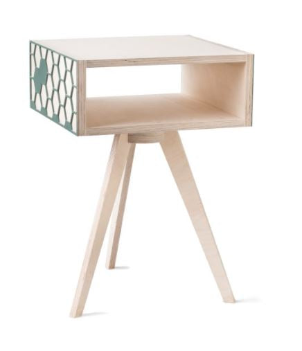 Hexa Bedside Table - Green