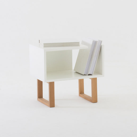 White & Oak Marina Side / Bedside Table
