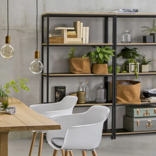 Strand Metal and Birch Shelving Unit