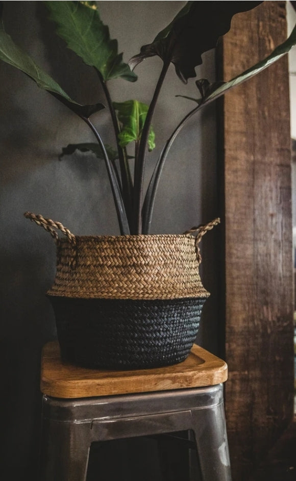 Black Bottom Sea Grass Basket