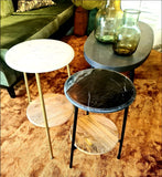 Marble Top Side Table in Marq