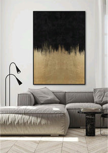 Gold Rush Wall Art in Black