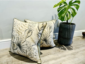 Green Leaf Cushions (Set of 2)