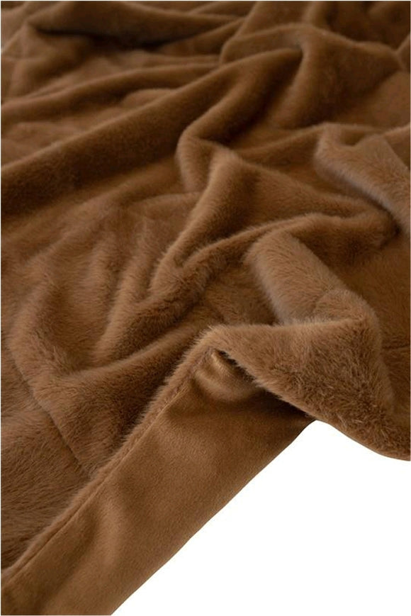 Fur Throw in Colour Cinnamon