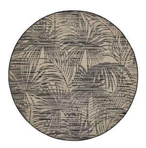 Cocos Round Rug in Black