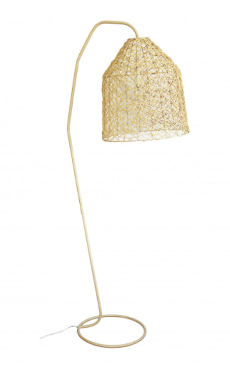 QUESTION ARC FLOOR LAMP - NATURAL