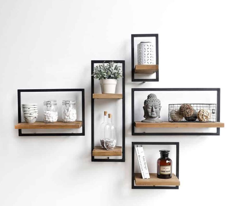 Nyomi – Set of 5 Wall Shelves