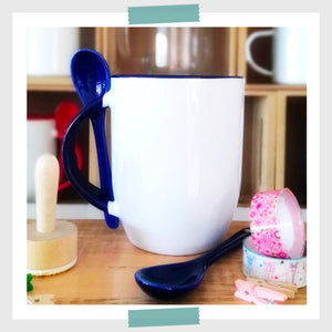 Mug Color Interno con Cuchara