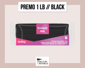 Sculpey Premo 1 lb - Black - The Clay Republic