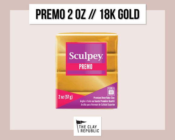 Sculpey Premo 2 oz - 18k Gold - The Clay Republic
