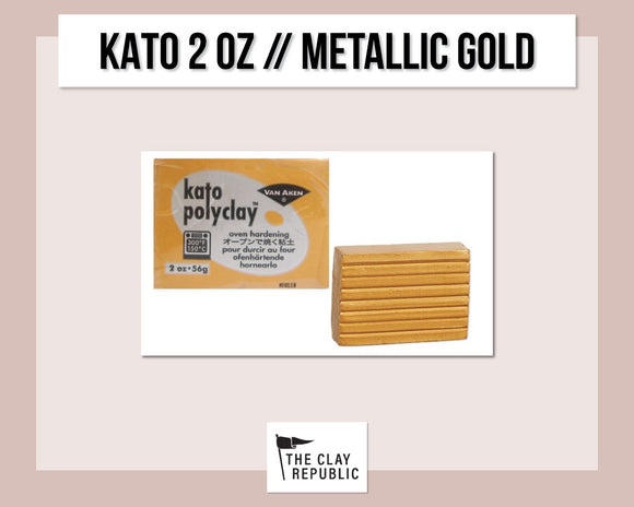 Kato Polyclay 2 oz - Metallic Gold
