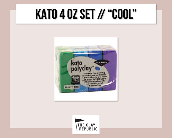 Kato Polyclay 4 oz Variety Set - Cool