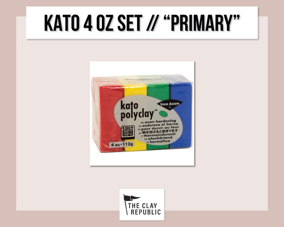 Kato Polyclay 4 oz Variety Set - Primary