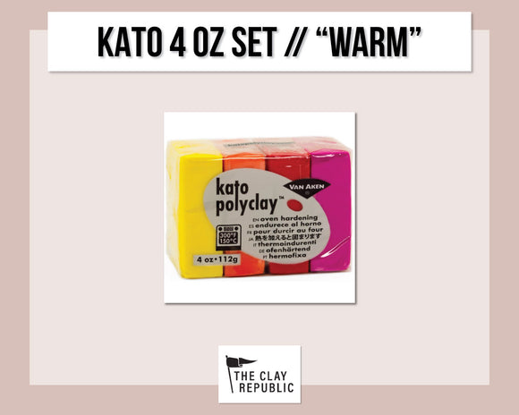 Kato Polyclay 4 oz Variety Set - Warm