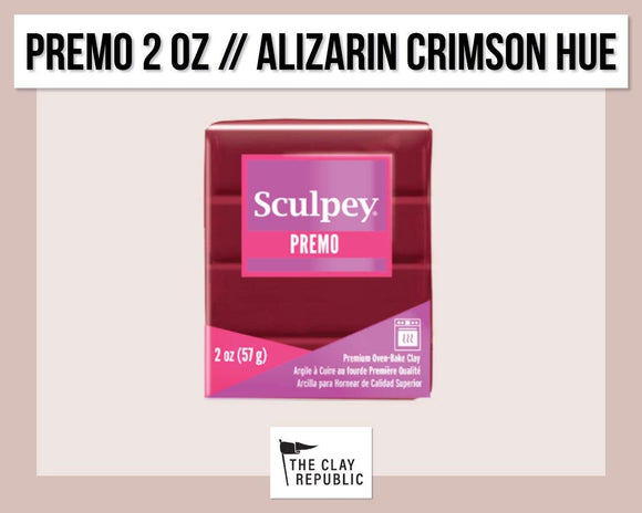 Sculpey Premo 2 oz - Alizarin Crimson - The Clay Republic