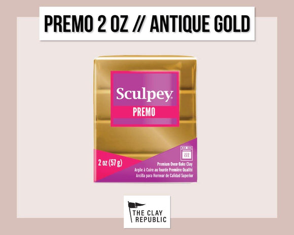 Sculpey Premo 2 oz - Antique Gold - The Clay Republic