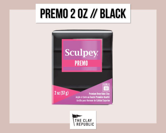 Sculpey Premo 2 oz - Black - The Clay Republic