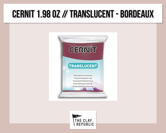 Cernit 1.98 oz - 56g - Translucent - Bordeaux (Wine Red)