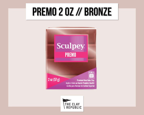 Sculpey Premo 2 oz - Bronze - The Clay Republic