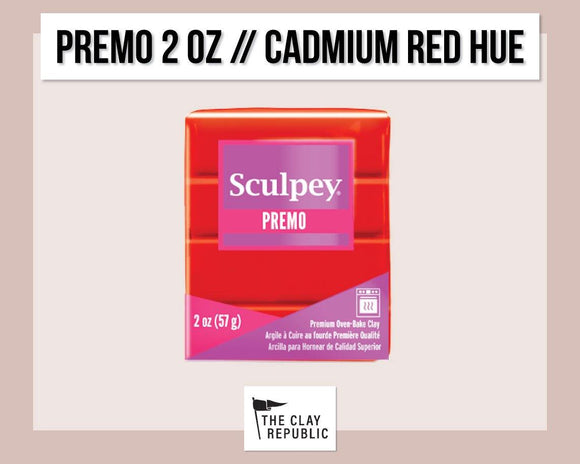 Sculpey Premo 2 oz - Cadmium Red Hue - The Clay Republic