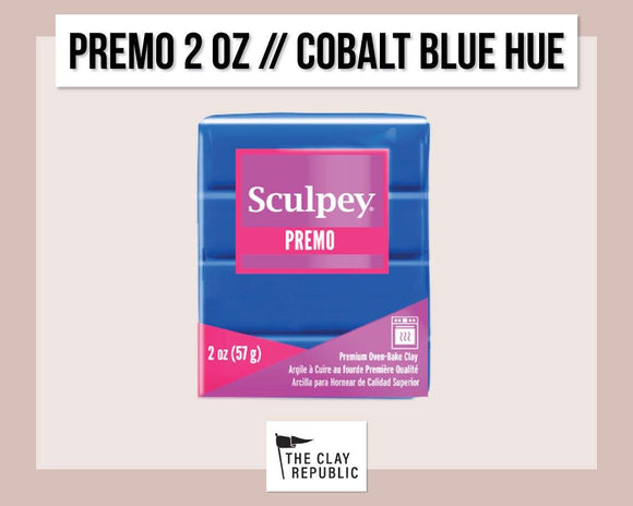 Sculpey Premo 2 oz - Cobalt Blue Hue - The Clay Republic