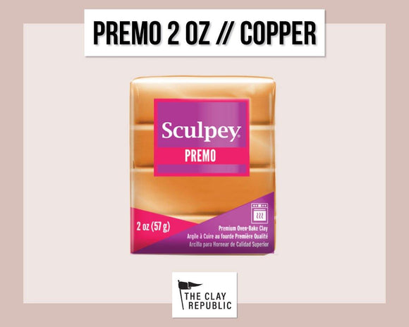 Sculpey Premo 2 oz - Copper - The Clay Republic