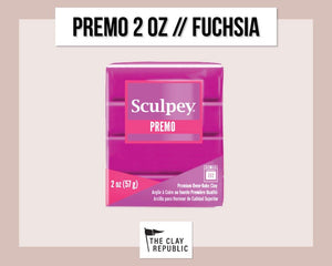 Sculpey Premo 2 oz - Fuchsia - The Clay Republic