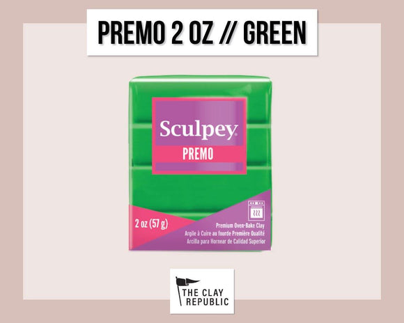 Sculpey Premo 2 oz - Green - The Clay Republic