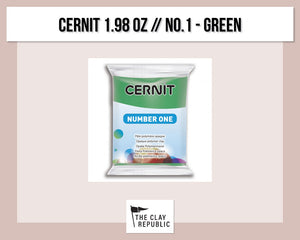 Cernit 1.98 oz - 56g - No. 1 - Green