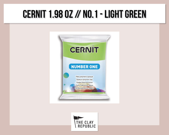 Cernit 1.98 oz - 56g - No. 1 - Light Green
