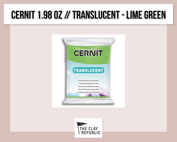 Cernit 1.98 oz - 56g - Translucent - Lime Green
