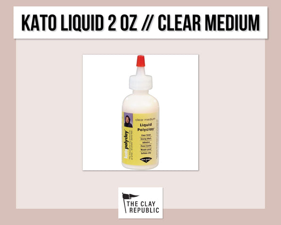 Kato Polyclay 2 oz Liquid - Clear Medium