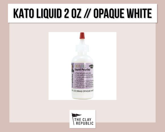 Kato Polyclay 2 oz Liquid - Opaque White
