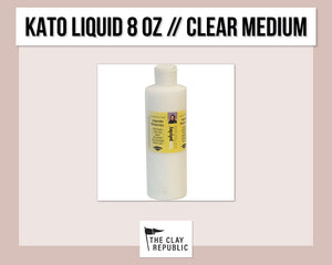 Kato Polyclay 8 oz Liquid - Clear Medium