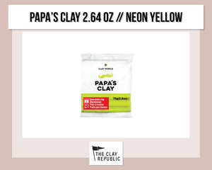 Papa's Clay 2.64 oz - NEON YELLOW