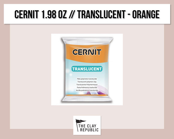 Cernit 1.98 oz - 56g - Translucent - Orange