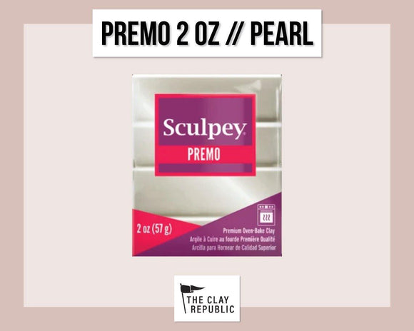 Sculpey Premo 2 oz - Pearl - The Clay Republic