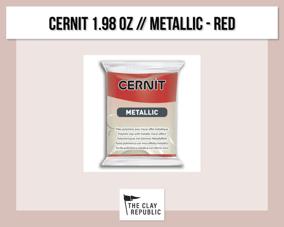 Cernit 1.98 oz - 56g - Metallic - Red