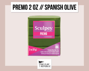 Sculpey Premo 2 oz - Spanish Olive