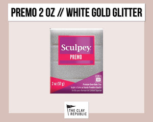 Sculpey Premo 2 oz - White Gold Glitter