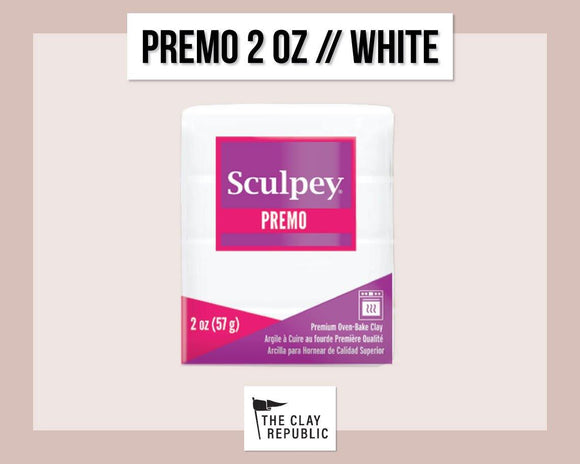 Sculpey Premo 2 oz - White - The Clay Republic