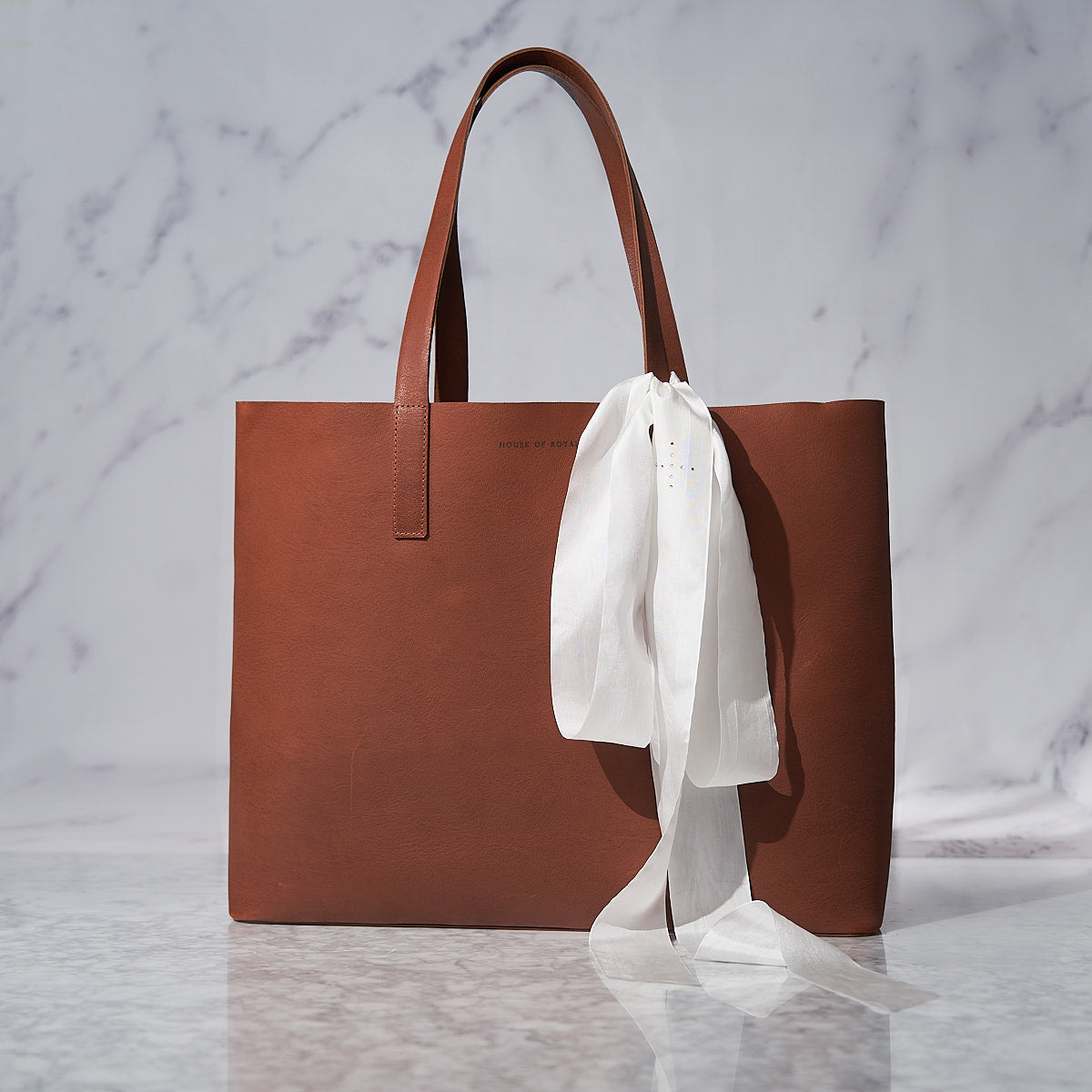 Beauty Lies Within You Leather Tote with Silk Ribbon - Limited Edition
