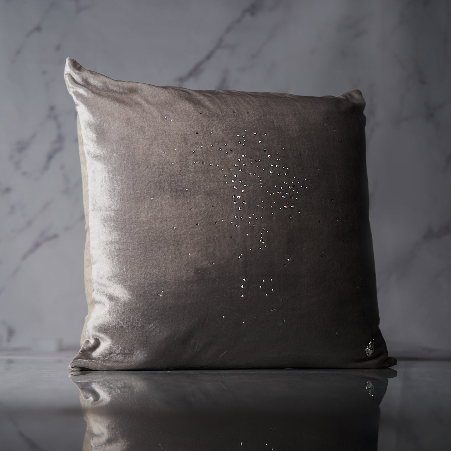 Starlight Dusk Swarovski® Crystal Throw Pillow Cover
