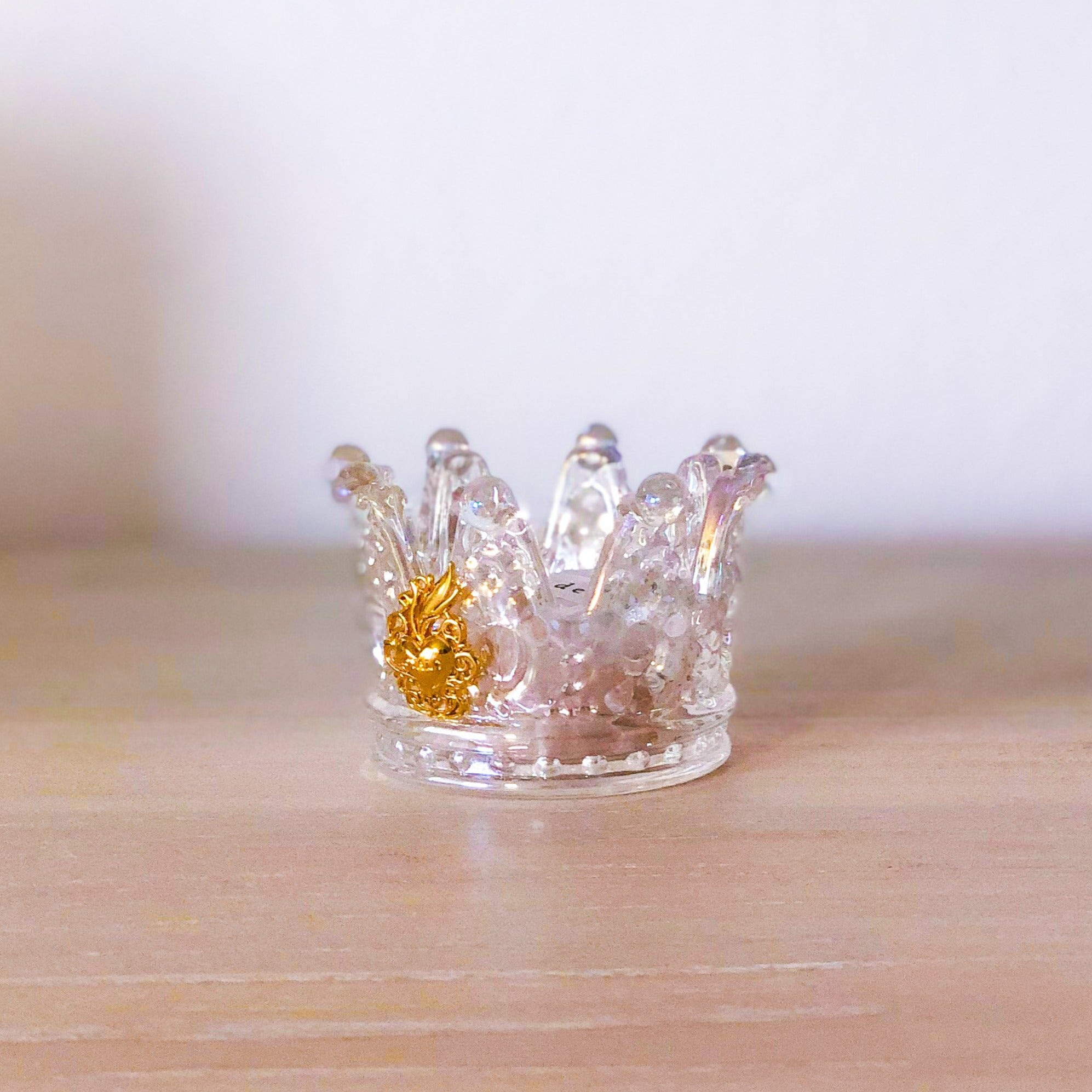 Little Lux Crown Prayer Candle & Beeswax Insert, Iridescent - FIRST LOVE EDITION