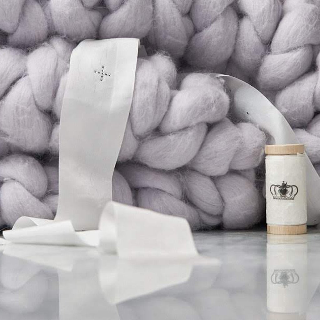 Prayer Blanket - Pure Merino Wool Chunky Knit with Swarovski® & Silk Prayer Ribbon